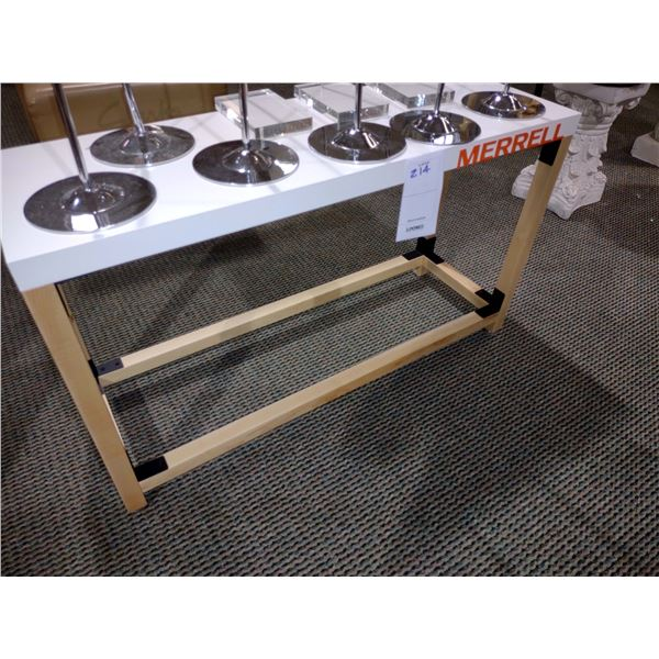 """MERRELL WOOD STAND, 21"""" W X 36"""" H"""