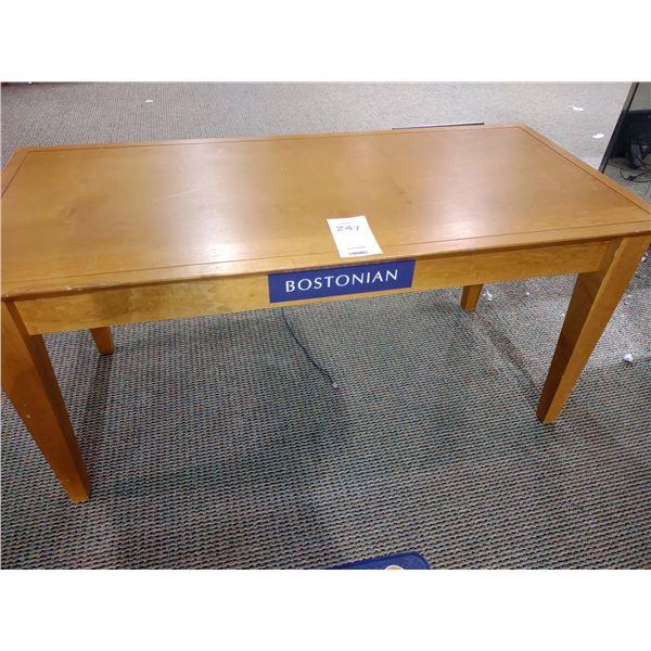"""BOSTONIAN WOOD TABLE, 52""""L X 24""""W X 25""""H"""