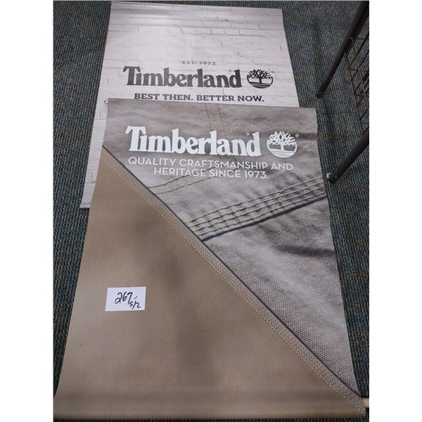 PAIR OF TIMBERLAND PVC BANNERS, NEW