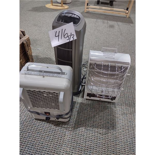 LOT OF 3 SPACE HEATERS, ALL WORK