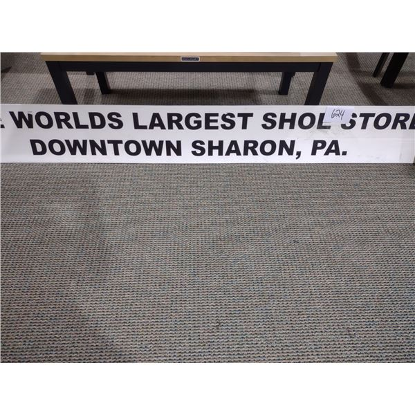 THE WORLDS LARGEST SHOE STORE, DOWNTOWN SHARON PA SIGN
