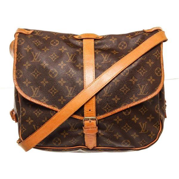Louis Vuitton Brown Saumur 35cm Crossbody Bag