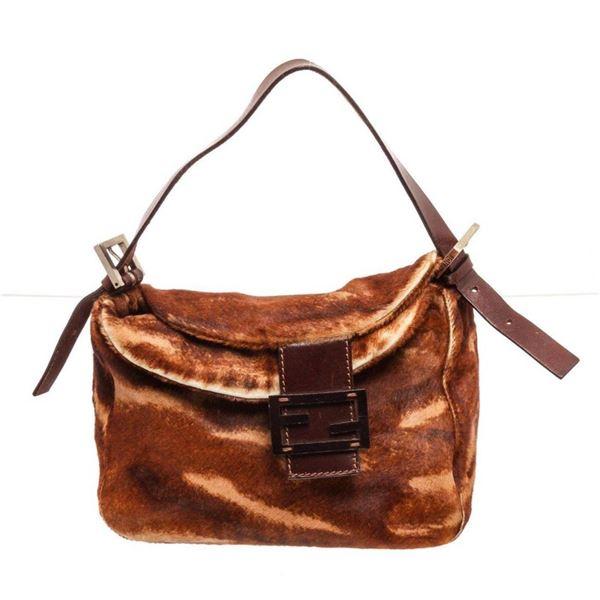Fendi Brown Mamma Baguette Hobo Bag