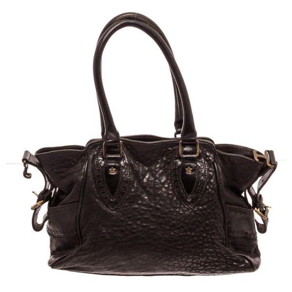 Fendi Black Leather Du Jour Shoulder Bag