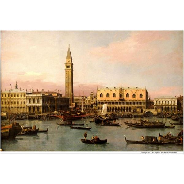 Canaletto - View of the Ducal Palace in Venice