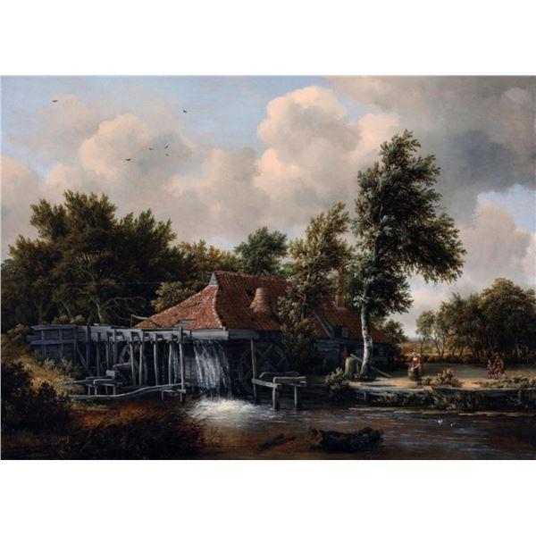 Meindert Hobbema - A Watermill