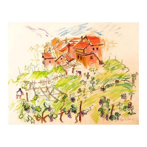 Mountain Vineyard in Italy by Ensrud Original