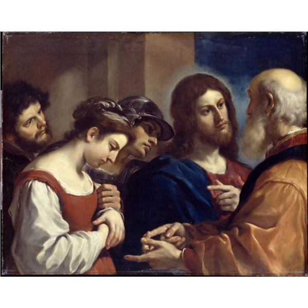 Guercino - The Woman Taken in Adultery