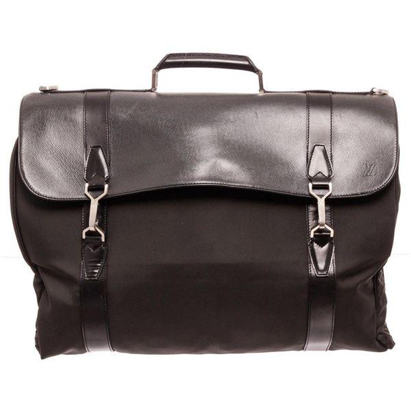 Louis Vuitton Black Taiga Leather Garment Bag