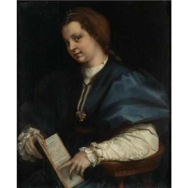 Andrea del Sarto - Lady with a Book