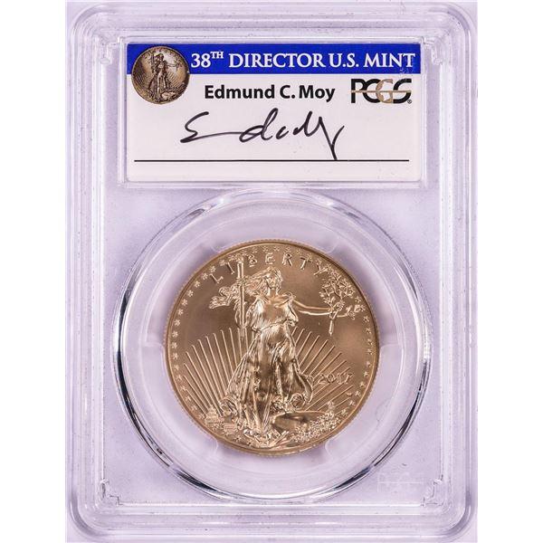 2017-W $50 Burnished American Gold Eagle Coin PCGS SP70 FDOI Philadelphia Moy Signature