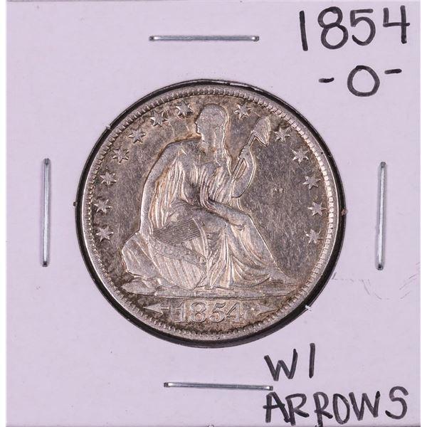 1854-O w/Arrows Seated Liberty Half Dollar Coin