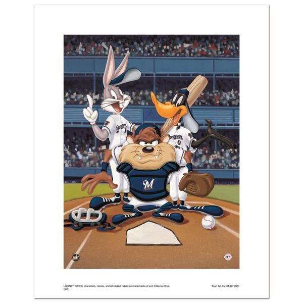 """Looney Tunes """"At The Plate (Brewers)"""" Limited Edition Giclee On Paper"""