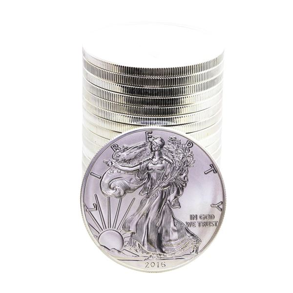 Roll of (20) Brilliant Uncirculated 2016 $1 American Silver Eagle Coins