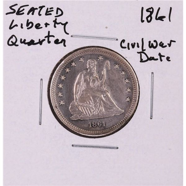 1861 Seated Liberty Quarter Coin