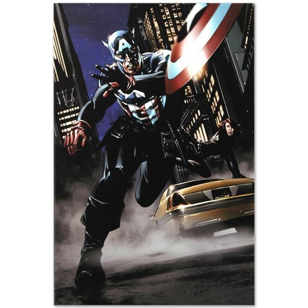 """Marvel Comics """"Captain America #34"""" Limited Edition Giclee On Canvas"""