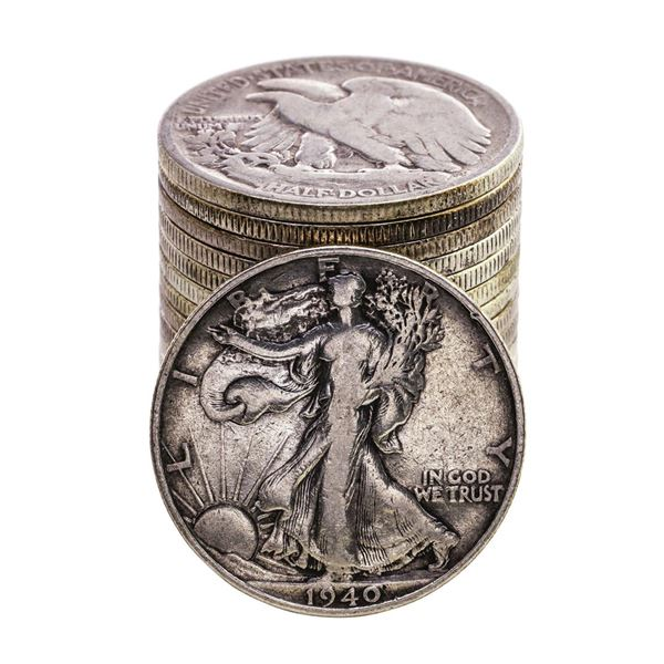 Roll of (16) Mixed Date Walking Liberty Half Dollar Coins