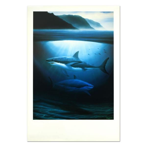"""Wyland """"Great White Sharks"""" Limited Edition Lithograph On Paper"""