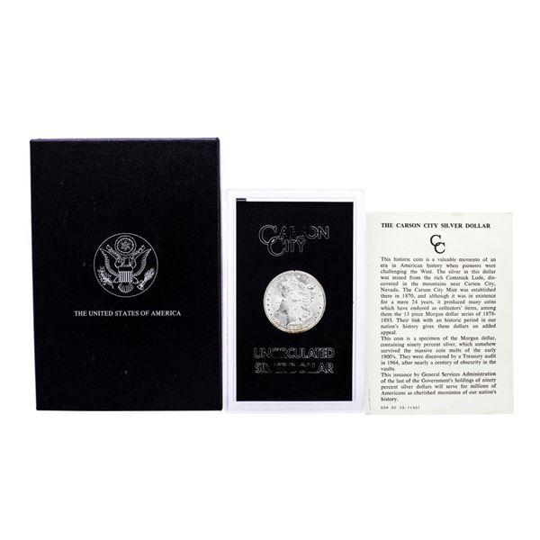 1881-CC $1 Morgan Silver Dollar Coin GSA Hoard Uncirculated w/Box