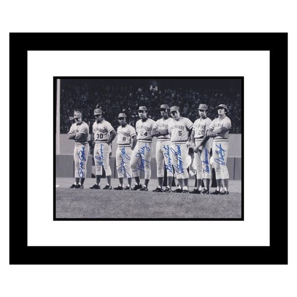 """""""Big Red Machine Line-Up"""" Signed Framed Lithograph"""