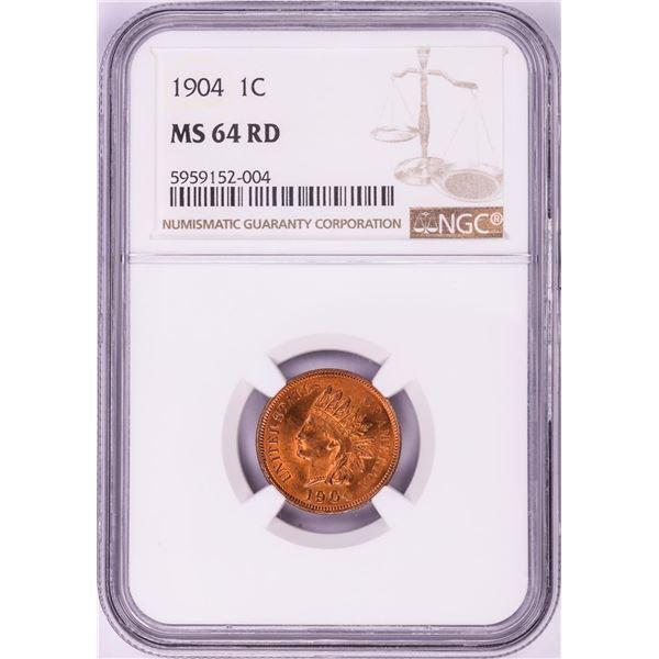 1904 Indian Head Cent Coin NGC MS64RD