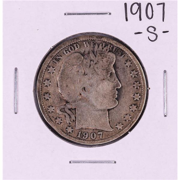 1907-S Barber Half Dollar Coin