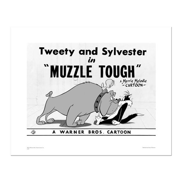 """Looney Tunes """"Muzzle Tough"""" Limited Edition Giclee On Paper"""