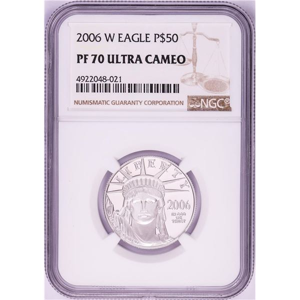 2006-W $50 Proof American Platinum Eagle Coin PCGS PF70 Ultra Cameo