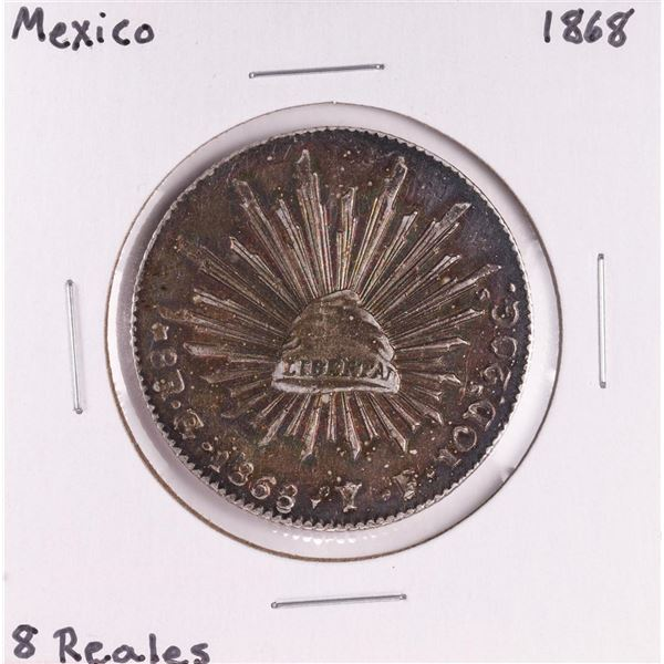 1868 Mexico 8 Reales Silver Coin