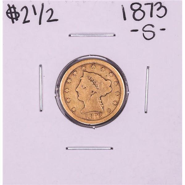 1873-S $2 1/2 Liberty Head Quarter Eagle Gold Coin