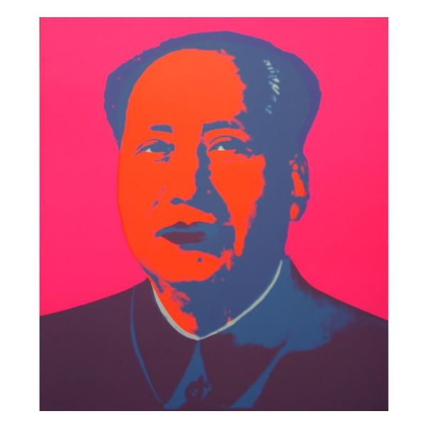 """Andy Warhol """"Mao Pink"""" Print Serigraph On Paper"""