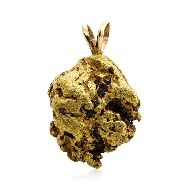 27.90 Gram Alaska Gold Nugget Pendant w/ 14K Finding