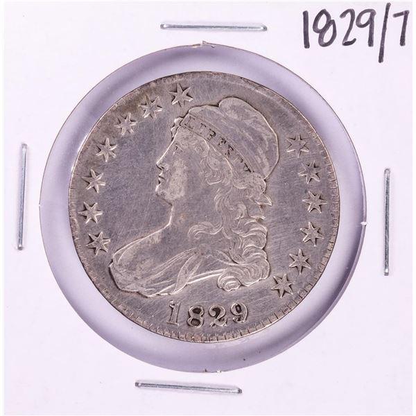 1829/7 Capped Bust Half Dollar Coin