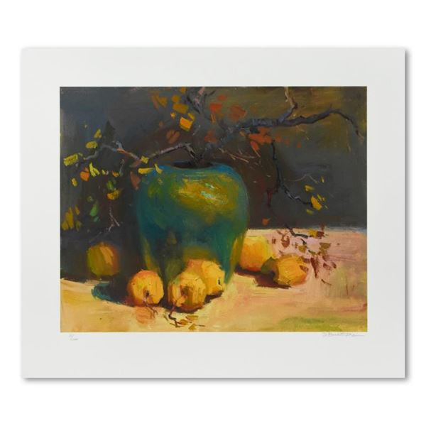 """SBurkett Kaiser """"Green Vase With Lemons"""" Limited Edition Giclee On Paper"""