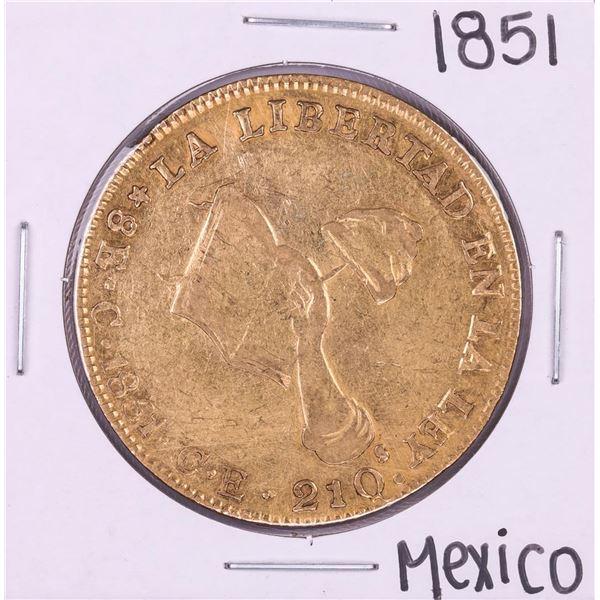 1851CE Mexico 8 Escudos Gold Coin