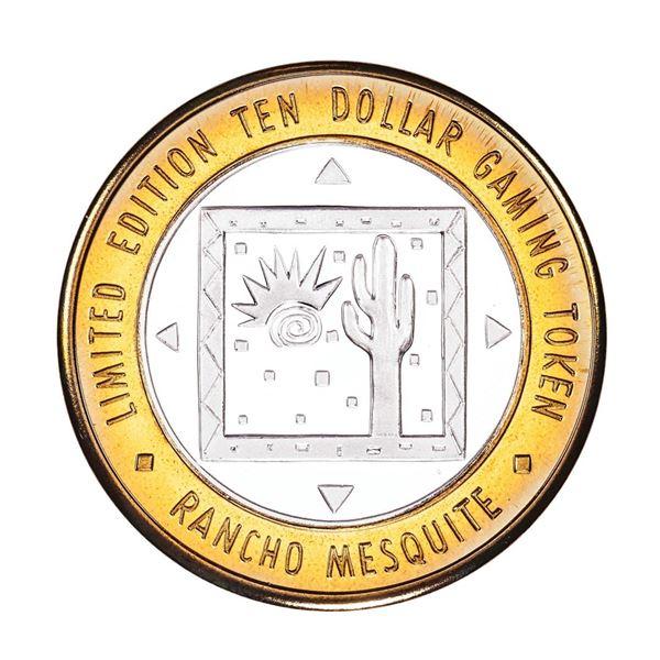.999 Silver Rancho Mesquite Casino Nevada $10 Casino Limited Edition Gaming Token