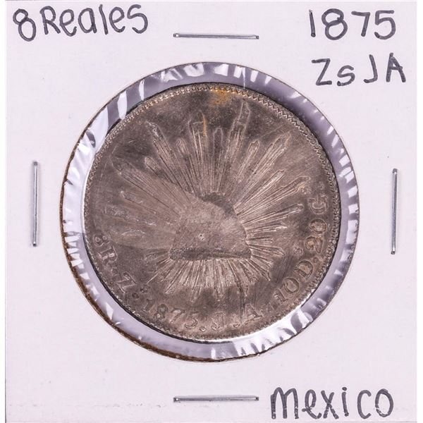 1875 Zs JA Mexico 8 Reales Silver Coin