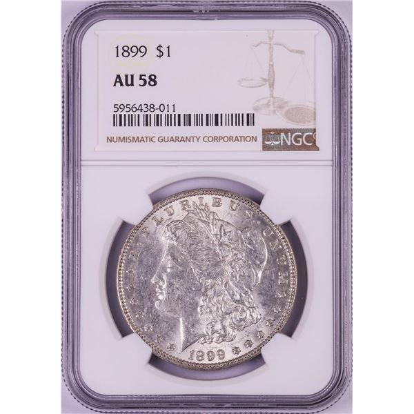 1899 $1 Morgan Silver Dollar Coin NGC AU58