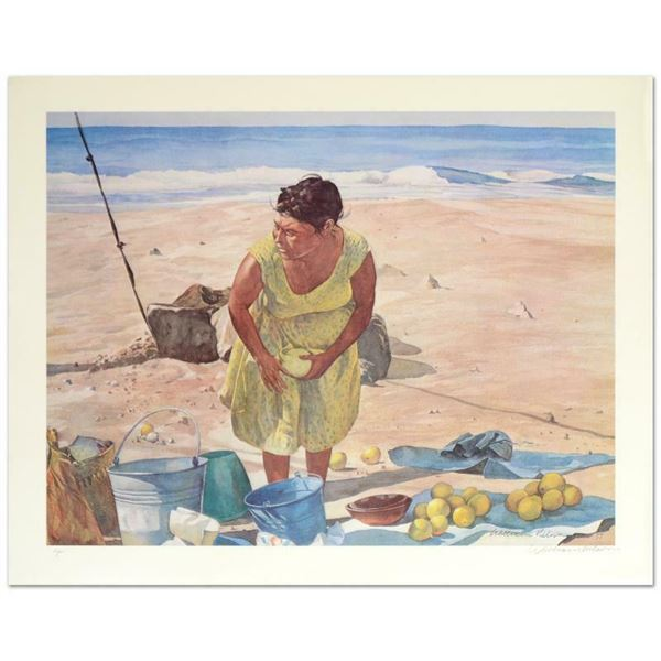 """William Nelson """"Mexican Fruit Vendor"""" Limited Edition Serigraph On Paper"""