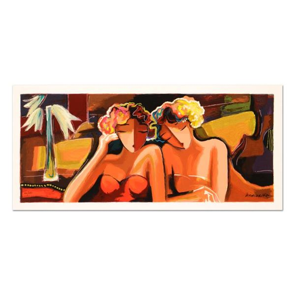 """Michael Kerzner """"Sisters"""" Limited Edition Mixed Media On Canvas"""