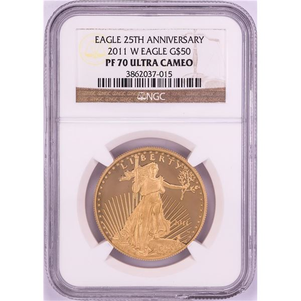 2011-W $50 Proof American Gold Eagle Coin NGC PF70 Ultra Cameo