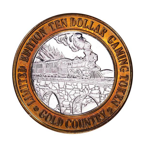 .999 Silver Gold Country Motor Inn Elko, NV $10 Limited Edition Casino Gaming Token