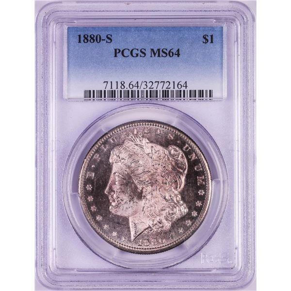 1880-S $1 Morgan Silver Dollar Coin PCGS MS64