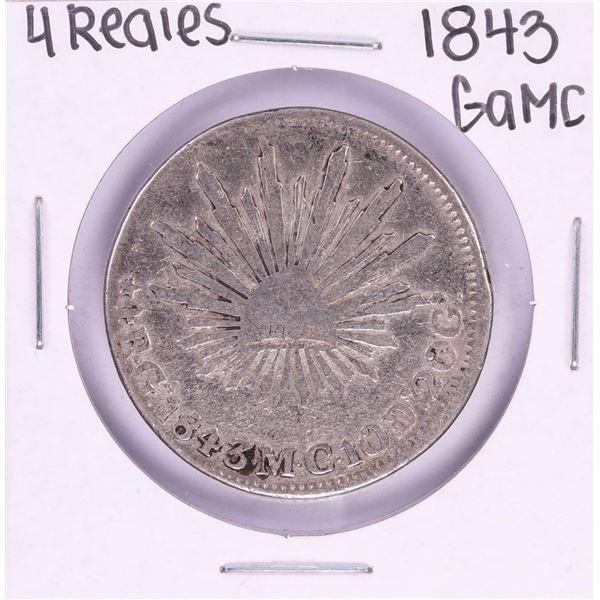 1843 GaMC Mexico 4 Reales Silver Coin