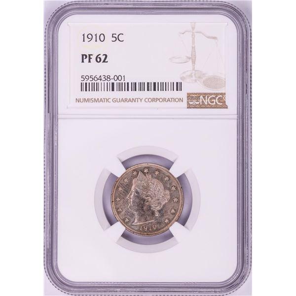 1910 Proof Liberty V Nickel Coin NGC PF62