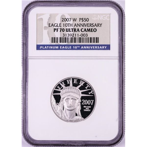 2007-W $50 Proof Platinum American Eagle Coin NGC PF70 Ultra Cameo