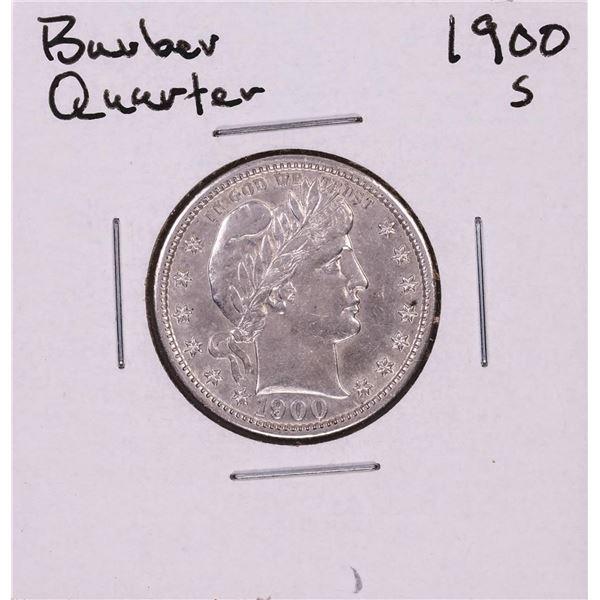 1900-S Barber Quarter Coin