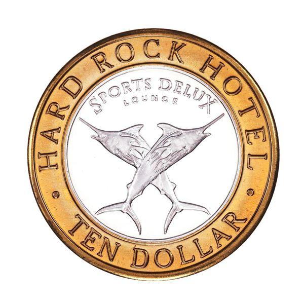 .999 Fine Silver Hard Rock Hotel & Casino Las Vegas $10 Limited Edition Gaming Token