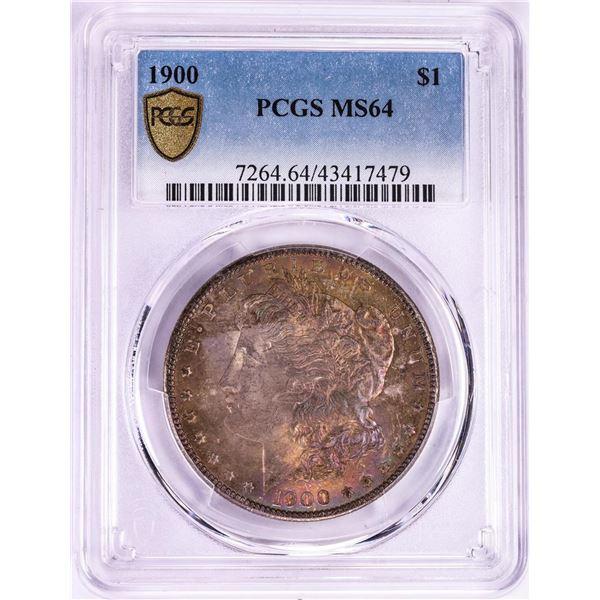 1900 $1 Morgan Silver Dollar Coin PCGS MS64 Amazing Toning