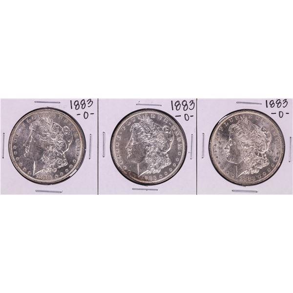 Lot of (3) 1883-O $1 Morgan Silver Dollar Coins